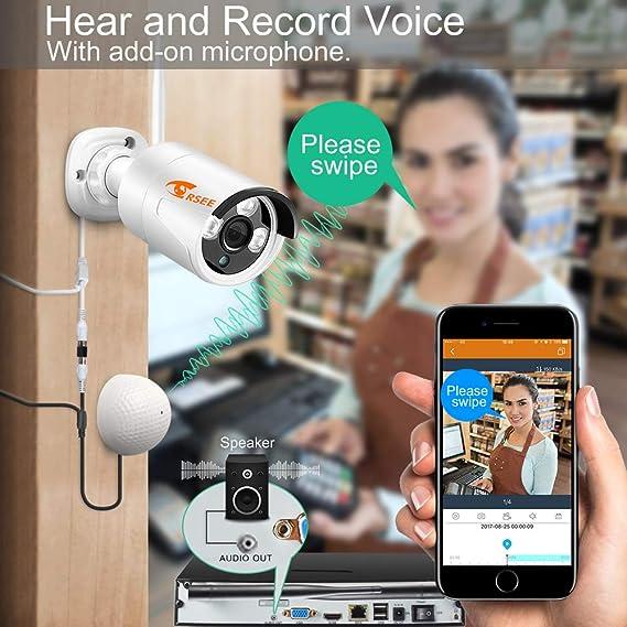 [8CH 960p cámaras NVR + 4 de 960P] corsee negocio en casa sistema de cámara de seguridad inalámbrica de vídeo, con 4 de 960P HD impermeable al aire libre ...