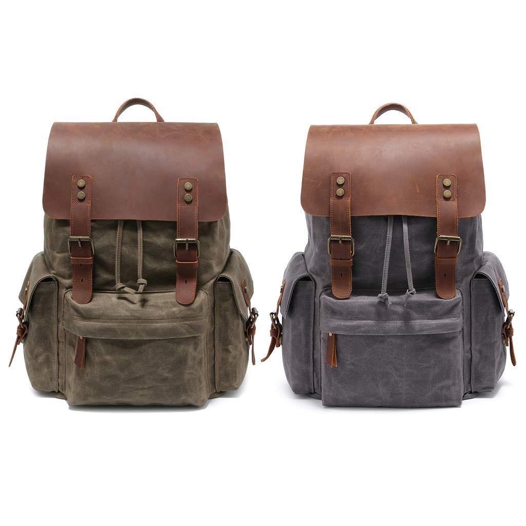 1df3d4ff22ae Amazon.com: Rhfemd Men Canvas Travel Shoulder Rucksack Vintage Large ...