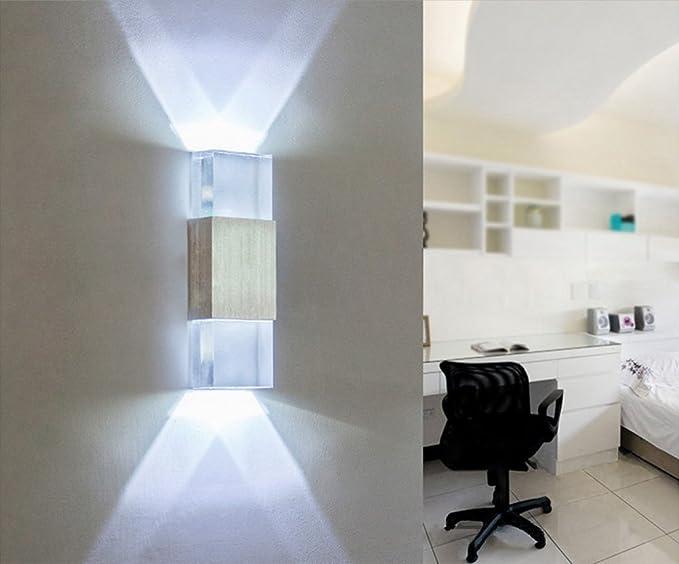Soriace® moderno applique 6 w acrilico in alluminio interieur