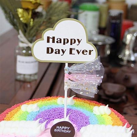 Amosfun - 10 piezas de decoración para tartas con borlas ...
