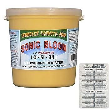 Esmeralda triángulo Humboldt Condado del propio Sonic Bloom (vitamina B1 floración Booster) + 2 Canarias tabla - 5 kg: Amazon.es: Jardín