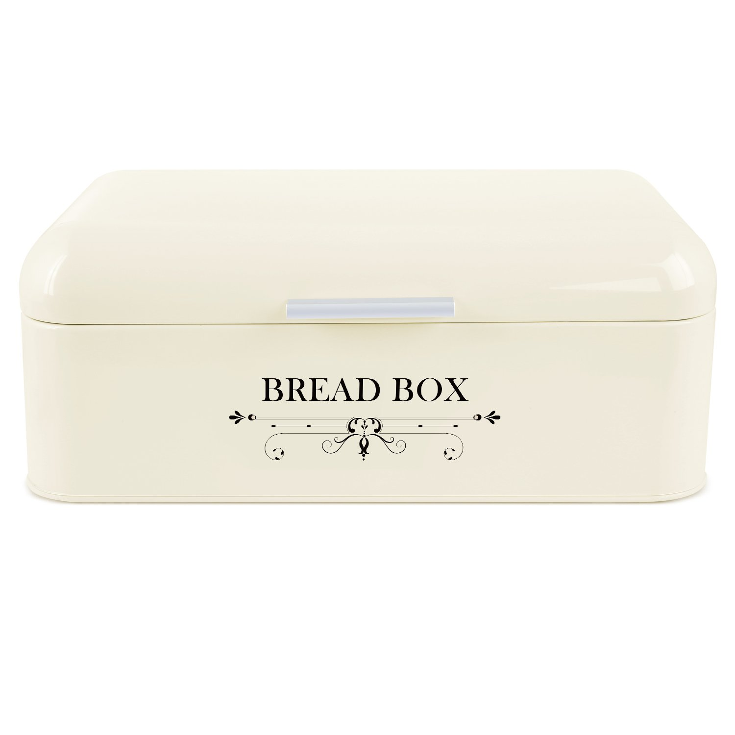 MVPOWER Bread Box Bread Bin Storage Container Extra Large Iron Bin with Powder Coating and Aluminium Alloy Handle,16.5 x 8.9 x 6.5 Inches
