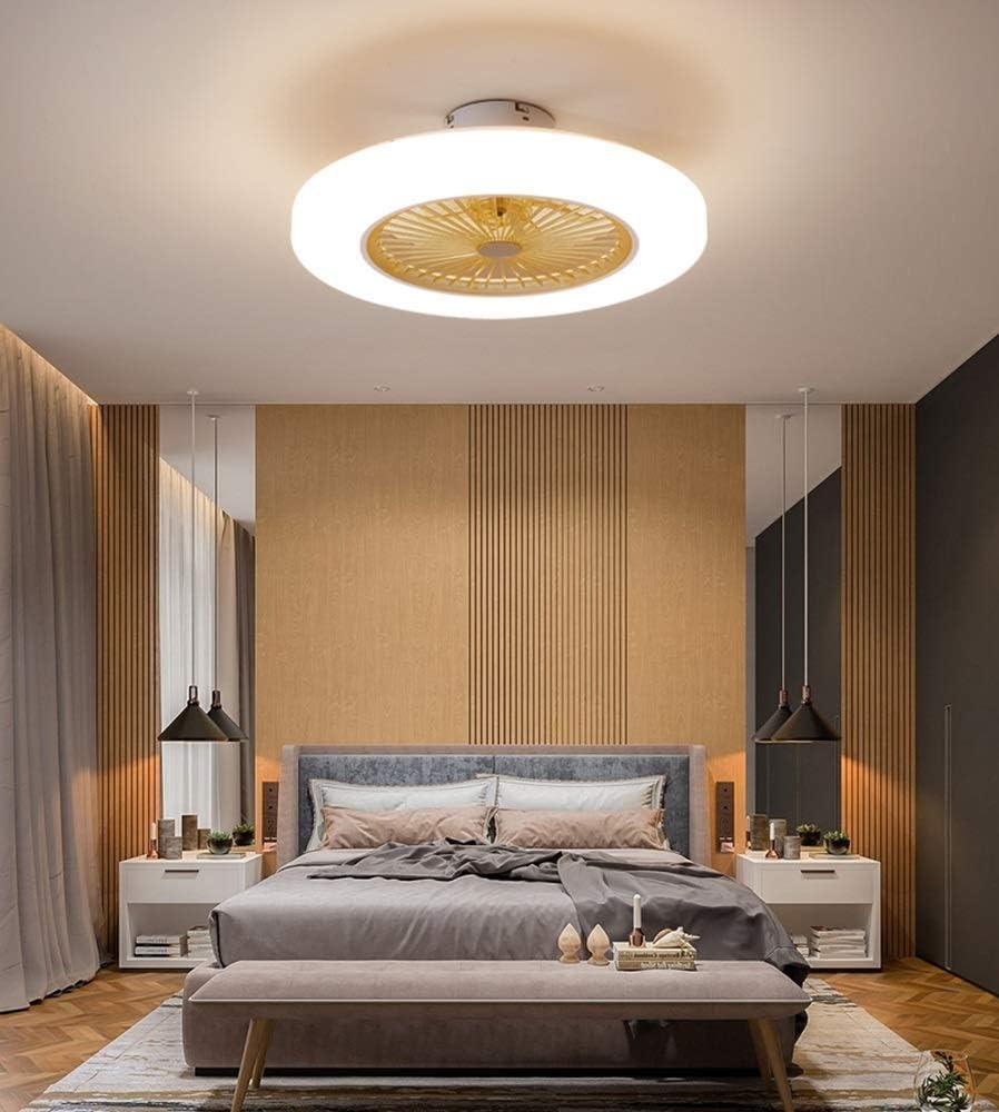 36 W ZXM Deckenventilator Mit Beleuchtung LED-Deckenventilator Mit Fernbedienung Dimmbar Modernes Schlafzimmer,Einstellbare Windgeschwindigkeit,Rosa Deckenbeleuchtung 3 Dateien