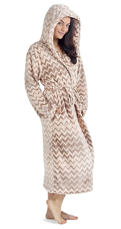 CityComfort Ladies Dressing Gown Soft Plush Bath Robe for Women Housecoat Loungewear Bathrobe