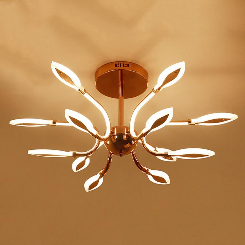 OOFAY TAPS Moderne Lustre LED Salon intérieur Luxe lumière