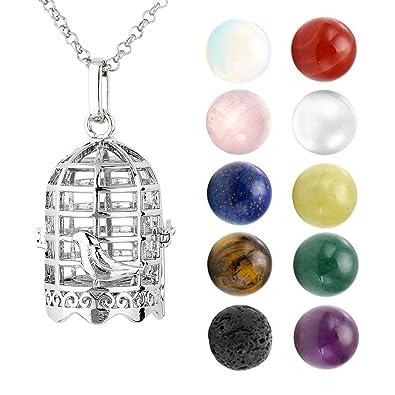 10X Natural Heart Stone Gemstone Healing Chakra Reiki Charm Pendant DIY Necklace