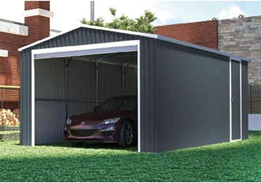 Faura - Garaje metálico - Modelo: Dakota: Amazon.es: Jardín