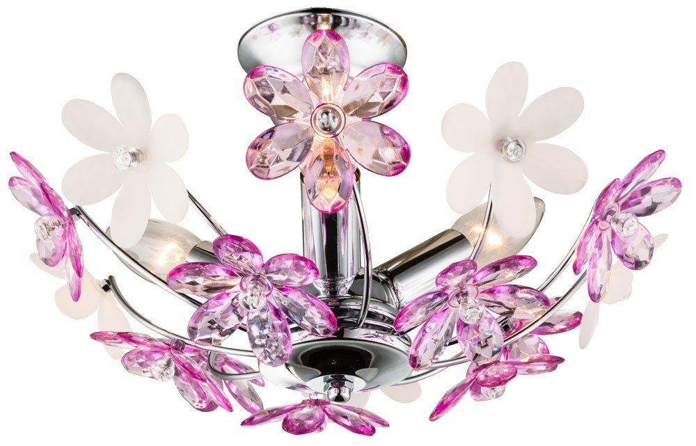 Plafoniera Fiori Lilla : Fiori flora viola lampada bianco soggiorno sala da pranzo tavolo