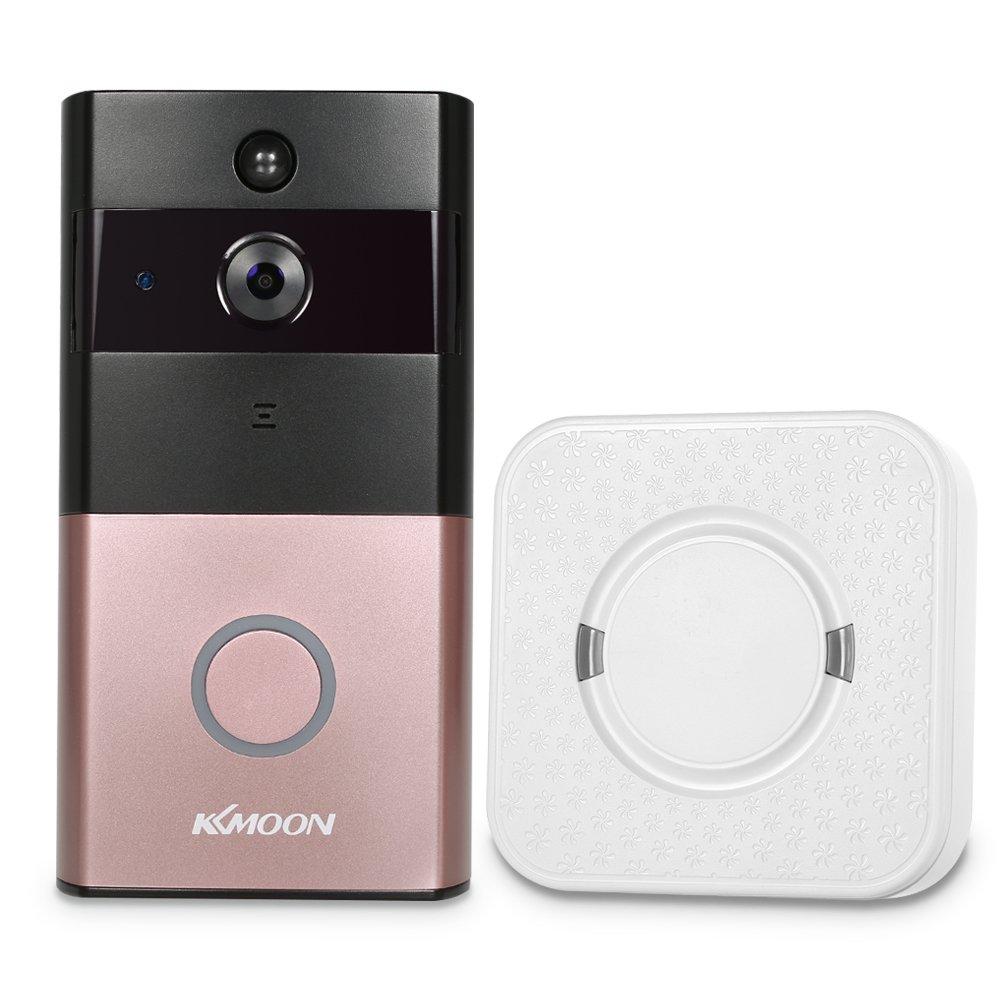 KKmoon Video-Türsprechanlage HD 720P Türklingel Wireless WIFI mit Indoor Ding-Dong Türklingel Visual Intercom Smart Video Türsprechanlage Unterstützung für Android IOS APP Fernbedienung