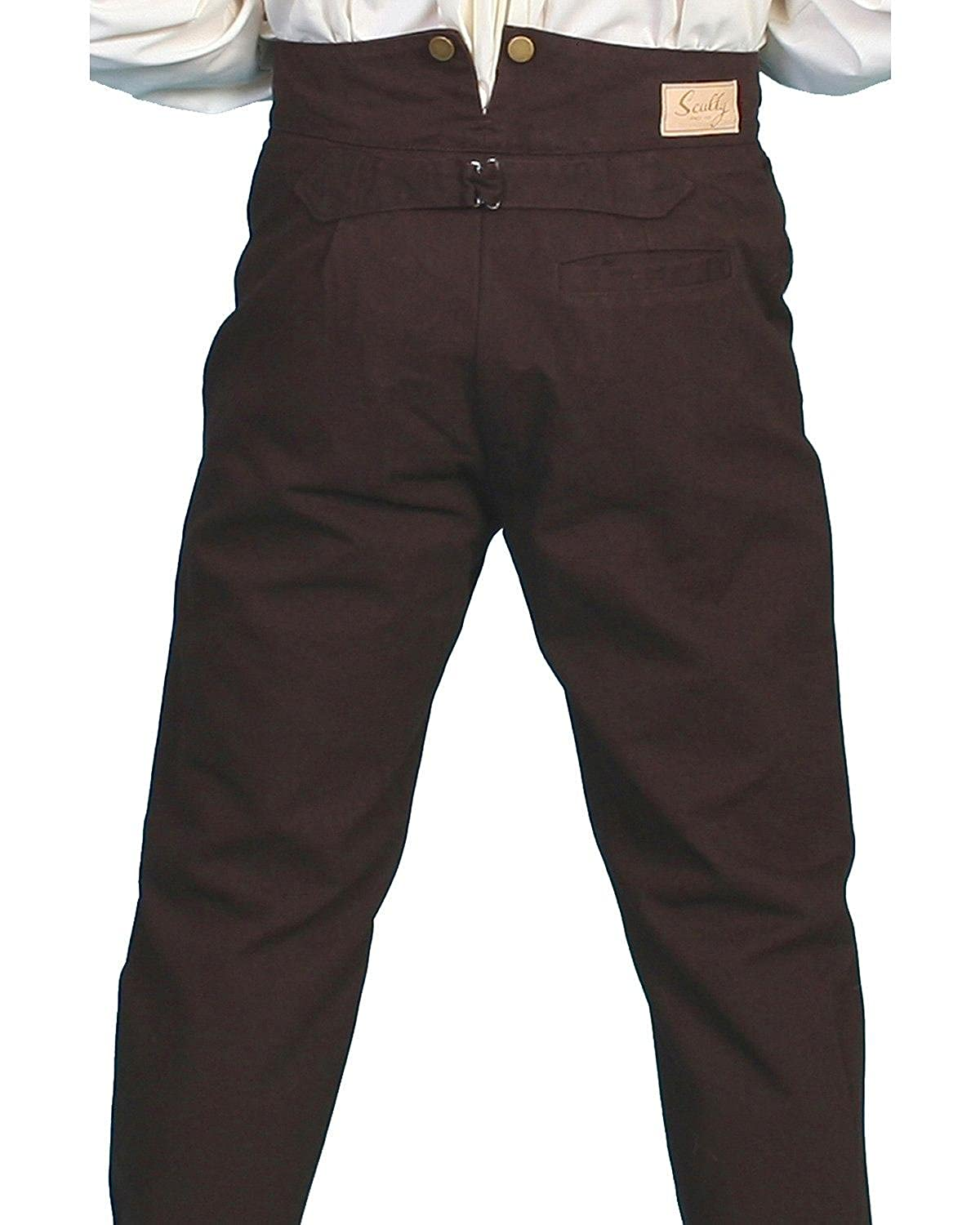 Men's Steampink Pants & Trousers Scully Rangewear Mens Rangewear Canvas Pants $51.90 AT vintagedancer.com