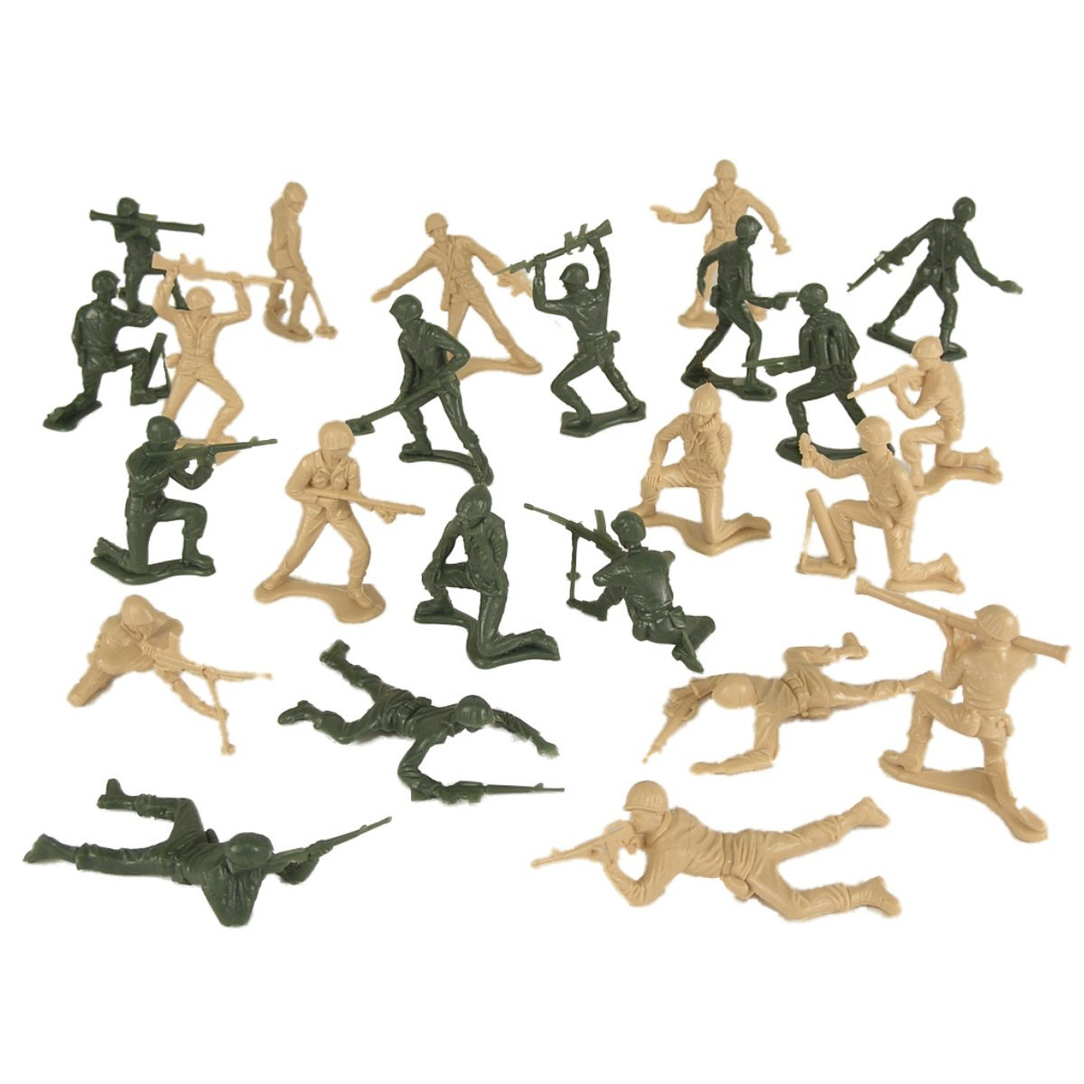 Galleon Timmee Plastic Army Men Green Vs Tan 100pc Toy