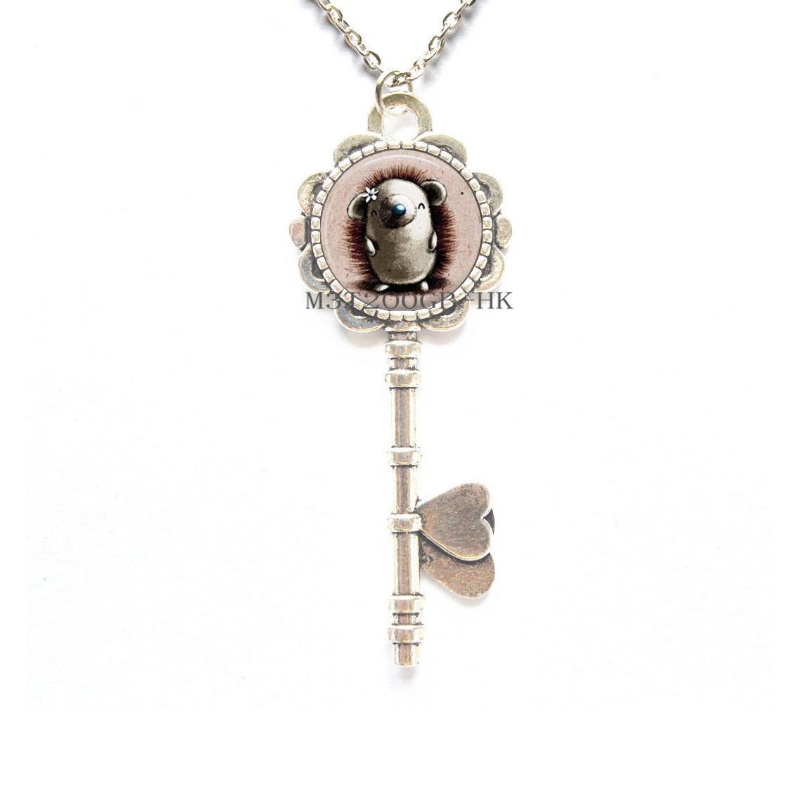 Porcupine - Collar para llaves de cristal, diseño de erizo ...