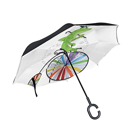 Amazon.com: A lie Inverted Umbrella by Frog Large Artistic ...