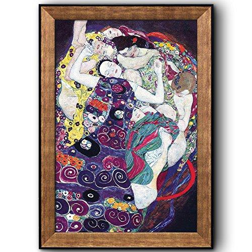 The Virgin by Gustav Klimt Framed Art