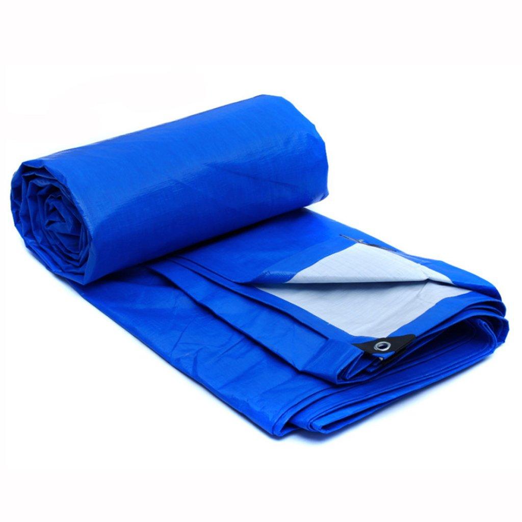 防水 防水性の雨のプラスチックの防水布の天幕布車の車のサンシェードの防水布布のテント布 B07F6NDYWS 8*6m|Blue white Blue white 8*6m