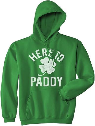 Does This Clover Make Me Look Drunk St Patrick/'s Day Mens Hoodie Sweatshirt