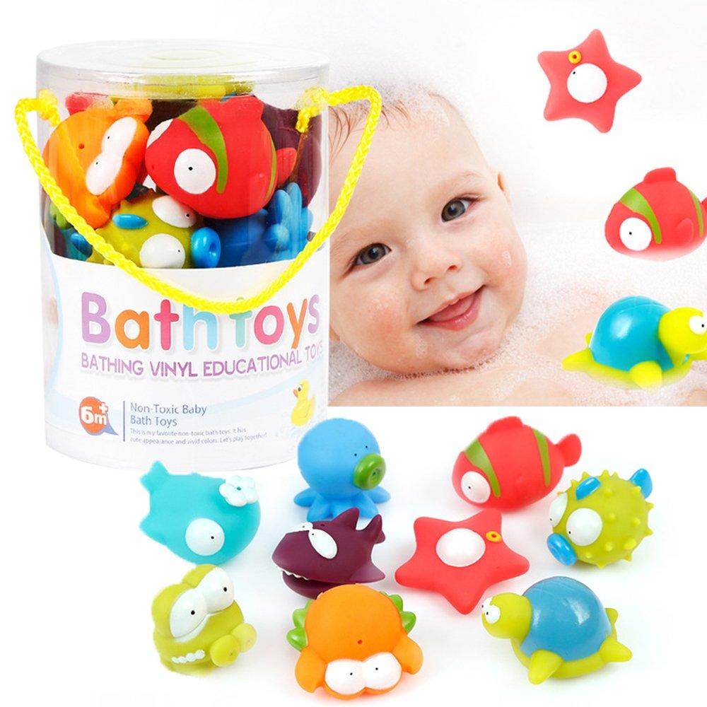 9-Pack Océan Jouir Bain à jouets pour les enfants, Baignoire Sac Jouet bébé Ecreate