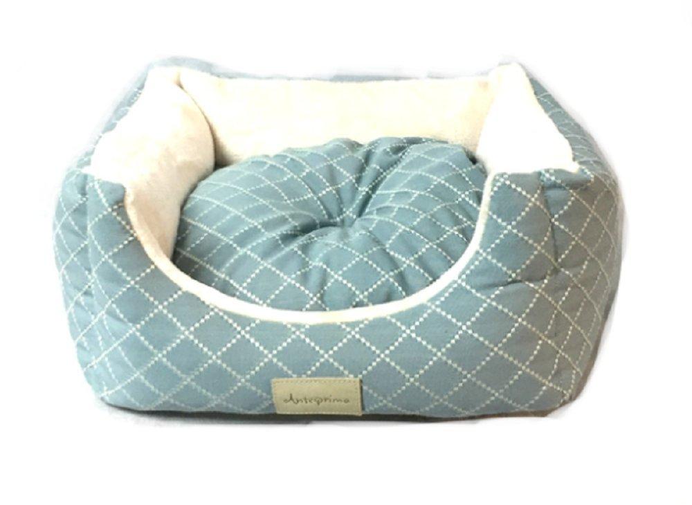 Caseta para perros Anteprima Made in Italy Celeste y Blanca: Amazon.es: Productos para mascotas