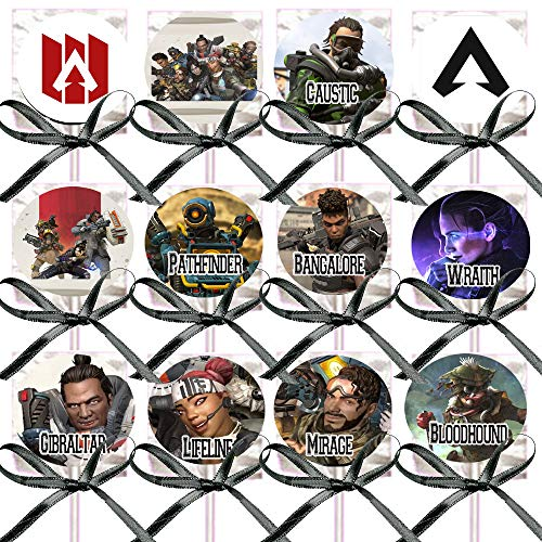 APEX Legends Lollipops Party Favors Supplies Decorations Lollipops with Black Ribbon Bows Party Favors -12 pcs, Video Game Truck Party