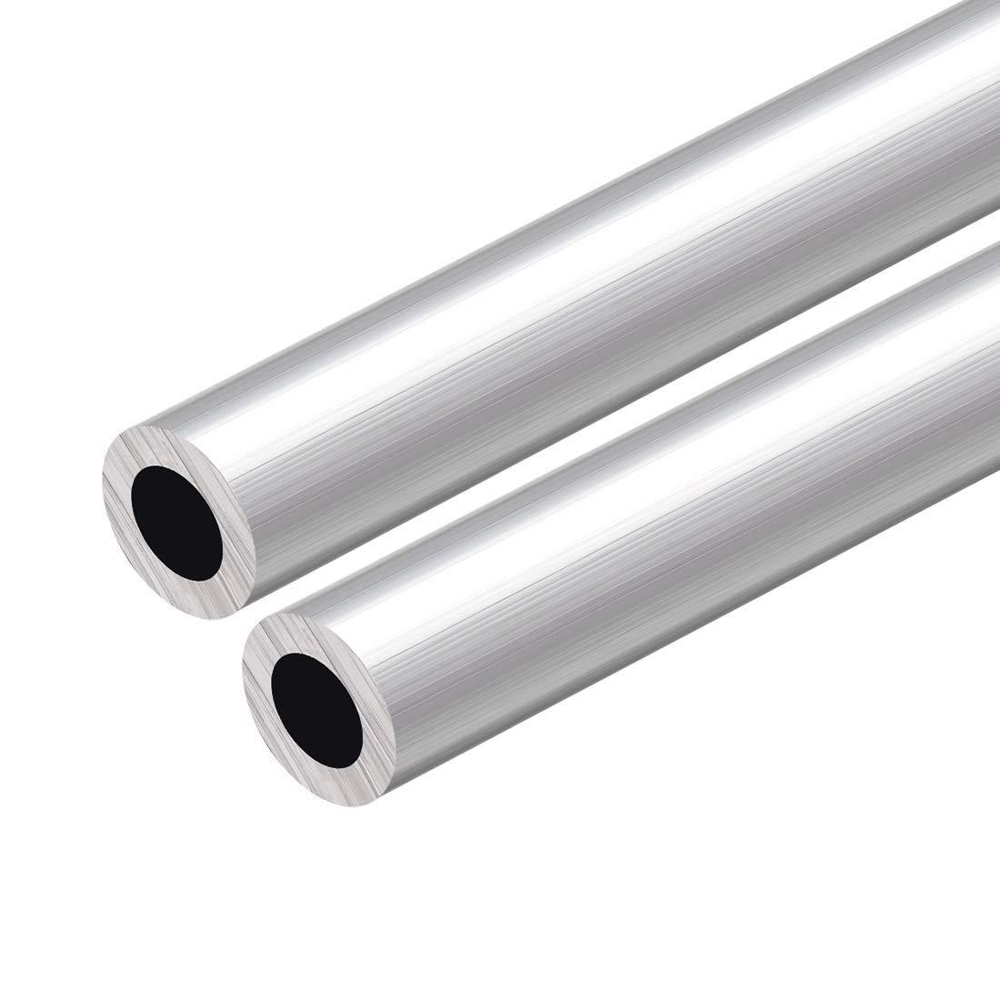 6063 Round Aluminum Tube 300 mm Length 20 mm OD 10 mm Inside Diameter Seamless Straight Aluminum Tube 2 Pieces