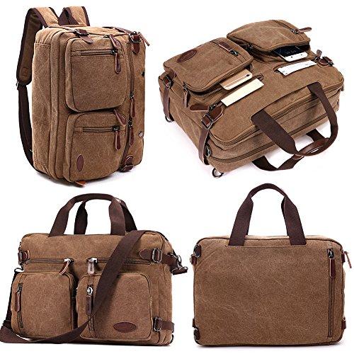 Briefcase for 15.6 Inch Laptop convertible Backpack,Messenger bag Bookbag for College Men