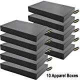 Mighty Gadget (R) 10 x Black Gloss Apparel Boxes