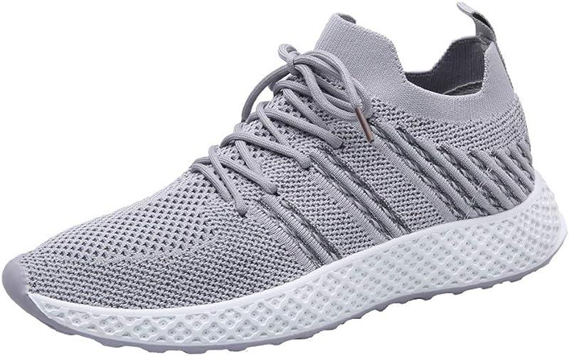 Poamen - Zapatillas de Running para Hombre, Ligeras, para Hacer Deporte al Aire Libre, Gimnasio, Caminar, Correr, Zapatillas Deportivas, Color Negro, Talla 42.5 EU: Amazon.es: Zapatos y complementos
