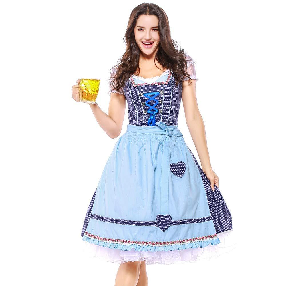 Mitiy 4PC Exclusive Authentic Bavarian Oktoberfest Trachten Halloween Dress German Dirndl German Wear
