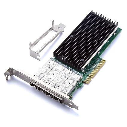 ipolex 10GbE Converged Network Adapter for Intel X710-DA4, XL710 Chipset,  PCI-E X8, Quad SFP+ Ports (X710DA4FH)