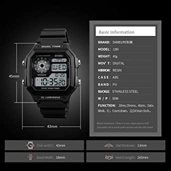 Amazon.com: Grass 135 Sports Watch Men Famous led Digital Watches Male Clocks men39;s Watch relojes deportivos Herren uhren reloj Hombre montre Homme: Cell ...