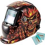 iMeshbean Pro Cool Flame Skull Style Solar Auto-darkening Welding & Grinding Helmet + Extra Lens Covers & Storage Bag ANSI Certified Model#1042 USA