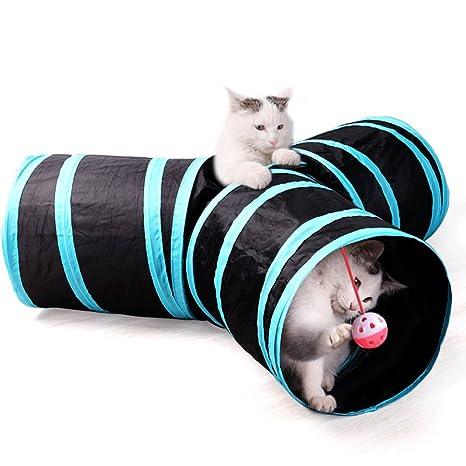 Cesta De Gato Túnel Cómodo Plegable Puede Ser Cosido Juguete Gato De Mascota Me Encanta Jugar