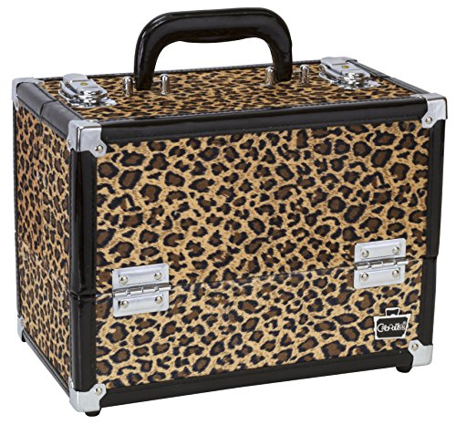 Caboodles Make Me Over 4 Tray Train Case, Cheetah, 3.54 Pound