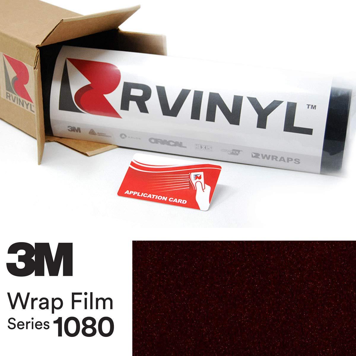3M 1080 GP282 Gloss Ember Black 4in x 6in Sample Size Vinyl Vehicle Car Wrap Film Sheet Roll