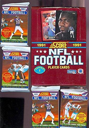 - 1991 Score Football Card Wax Pack Box Series 1 Set PLUS BONUS