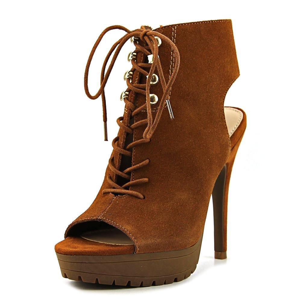 Bar III Womens Emiko Leather Open Toe Platform Pumps B01LWAFL55 10 B(M) US|Deep Mocha