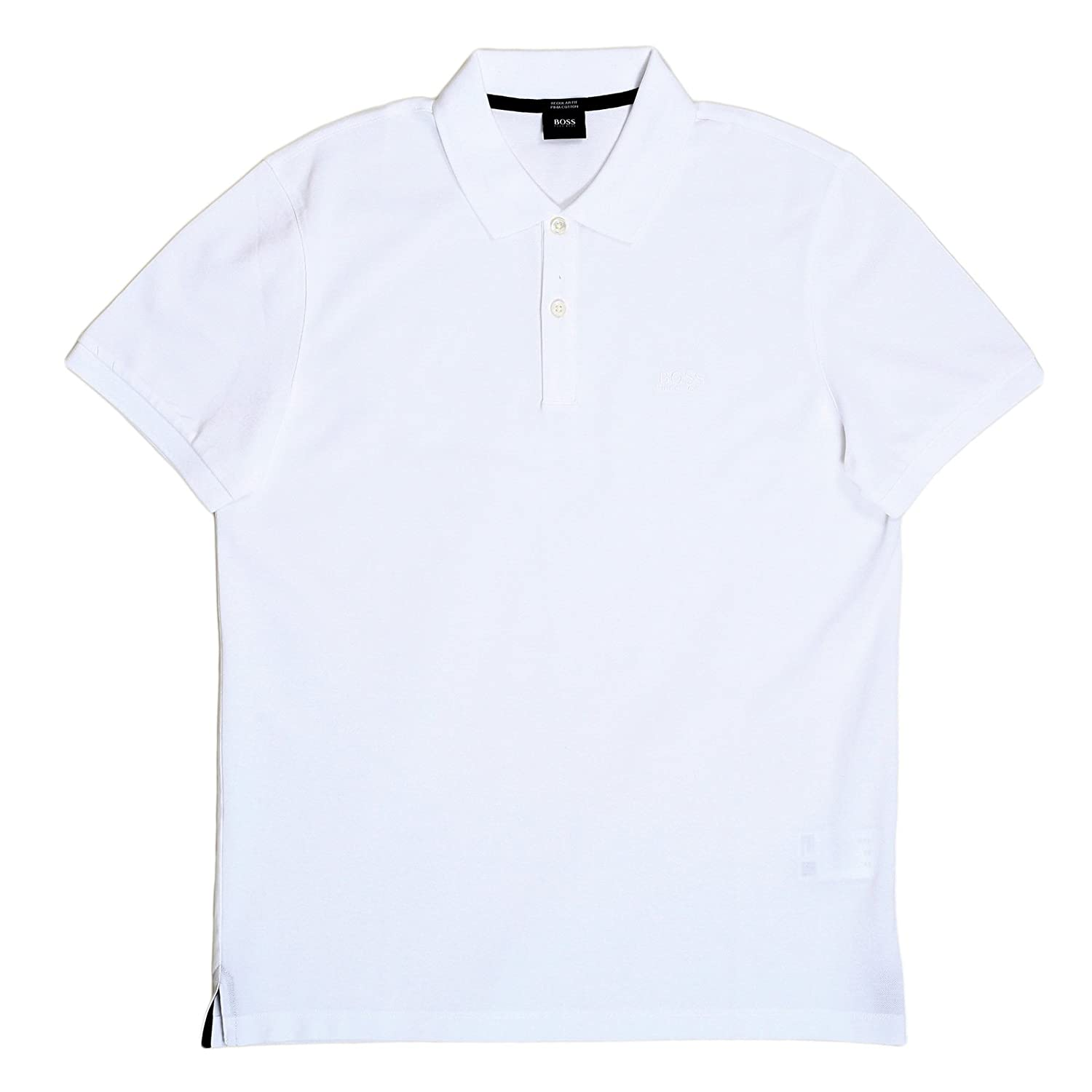 d08bfee9c Hugo Boss White Boss Polo Shirt With Chest Logo BOSS5783: Amazon.co.uk:  Clothing