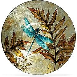 """Angelstar 19162 Dragonfly Spirit Round Plate, 12-1/2"""""""
