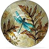 Angelstar 19162 Dragonfly Spirit Round Plate, 12-1/2''
