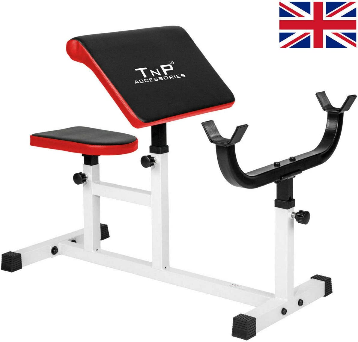 25KG EZ Curl Bar Barbell Weight Set TnP Accessories Adjustable Heavy Duty Steel Preacher Arm Curl Weight Bench Biceps Weightlifting Gym Fitness Equipment Barbell Rack New