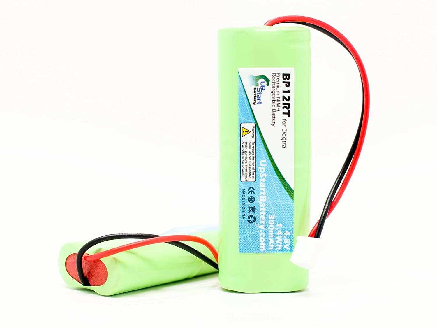 2x Pack - Dogtra 1900 NCP Battery - Replacement for Dogtra BP12RT Dog Training Collar Receiver Battery (300mAh, 4.8V, NI-MH)
