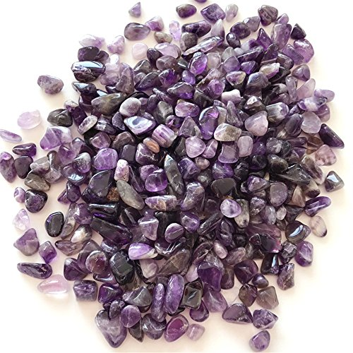- WJYY Natural Irregular Tumbled Chips Crushed Stone Healing Reiki Crystal Shaped Stones Jewelry Making Home Decoration (Amethyst 1 lb)