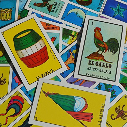 Naipes Gacela Loteria Mexicana Family Set of 20 Boards and Cards (Loteria Mexican Bingo)