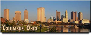 Columbus panoramic fridge magnet Ohio travel souvenir