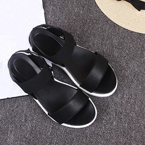 Été Plage Sandales Dames Sandales BeautyTop Noir Plage Femmes Vieilli Sandales Fille Top Chaussures Beauty Chaussures Appartement Chaussures Cuir Pantoufles Femme Flats Zppxwq7P
