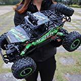 RC Car Rock Crawlers High Speed Vehicle 4x4 Driving Car 4 Channel 2.4G On/Off -Road / Rock Climbing Car 1:12 Brushless Electric 12 KM/H Flashlight / Waterproof / Shockproof Suprise Gift (Green)