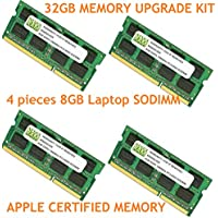 32GB (4 X 8GB) DDR3-1066MHz PC3-8500 SODIMM for Apple iMac Late 2009 Intel Core i7 Quad-Core 2.8GHz 27 MB953LL/A CTO (iMac 11,1)