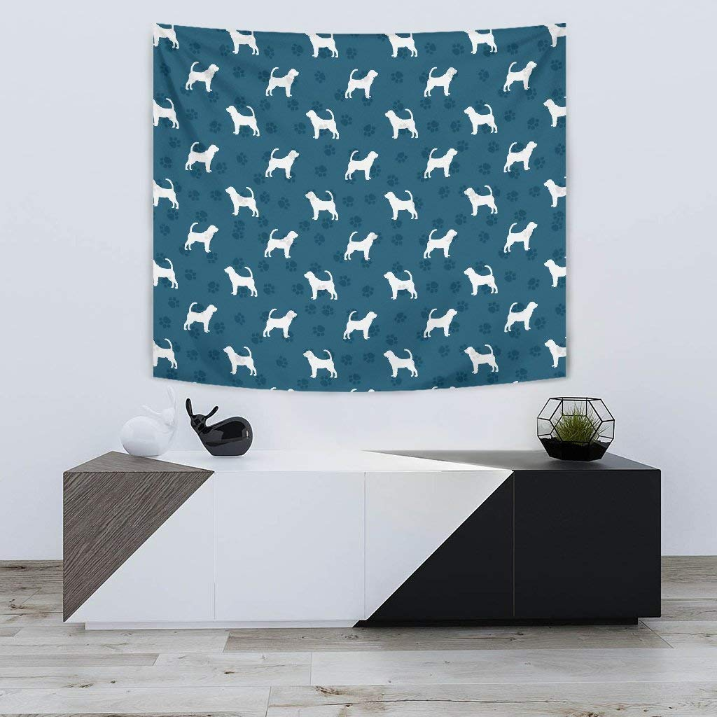 Bloodhound Dog Paws Pattern Print Tapestry by Simply Cool Trends