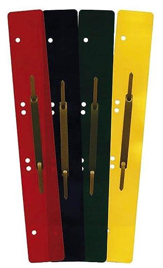 Heftstreifen metall  Heftstreifen aus Kunststoff, lang - sortiert, 100 Stück (4 Bündel ...