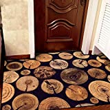 Wolala Home Creative Simple Tree Rings Living Room Area Rug Fashion Cozy Abstract Bedroom Carpet Home Decorator Floor Rug (2'0x3'0, Multi)